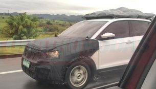 VW T-Cross in production body spied on test in Brazil