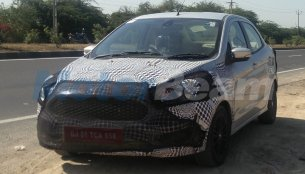 2018 Ford Aspire (facelift) with spied revealing new grille