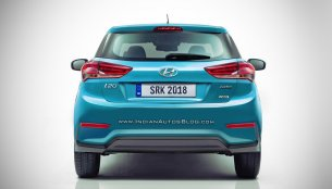 2018 Hyundai i20 (facelift) rear - Rendering