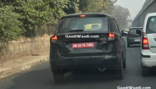 2018 Maruti Ertiga (Maruti YHA) shows its production tail lamps