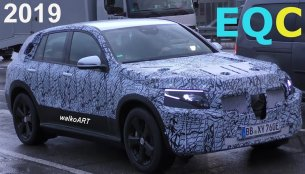 Mercedes EQC electric SUV spied testing - Video