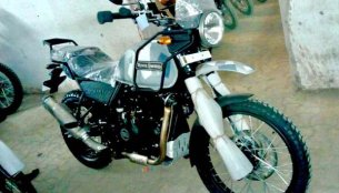 Royal Enfield Himalayan spotted in camouflage colour