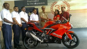Deliveries of TVS Apache RR 310 Racing Red colour commence