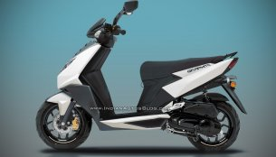 Production TVS Graphite scooter - IAB Rendering