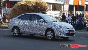Toyota Vios (Toyota Yaris Sedan) spied in India again