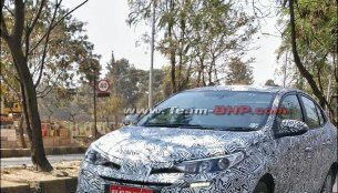 Toyota Yaris Ativ (Toyota Vios) spied in India for the first time