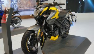 2018 Bajaj Pulsar NS 200 Yellow colour variant showcased at Motobike Istanbul 2018