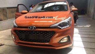 2018 Hyundai i20 in new Flame Orange colour spied