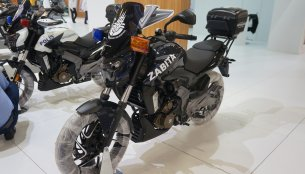 Bajaj Dominar 400 Police version showcased at Motobike Istanbul 2018
