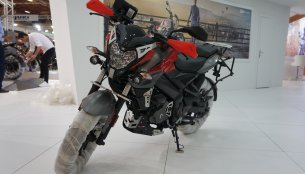 Bajaj Pulsar NS 200 with accessories showcased at Motobike Istanbul 2018