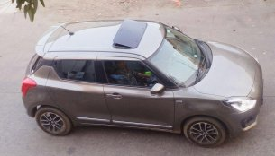 Check out this 2018 Maruti Swift with an aftermarket sunroof
