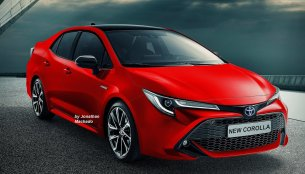 Next-gen 2019 Toyota Corolla Altis (2019 Toyota Corolla Sedan) imagined - Rendering