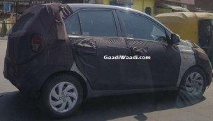 New spy shots show the Hyundai AH2 (new Hyundai Santro) continuing road tests