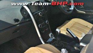2018 Mahindra XUV500 (facelift) interior exposed in new spy shots