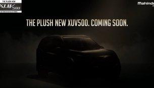 2018 Mahindra XUV500 (facelift) teased ahead of tomorrow's launch