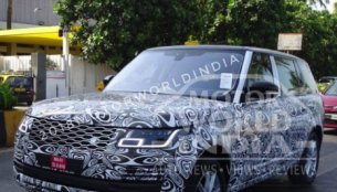 2018 Range Rover (facelift) spotted testing in India