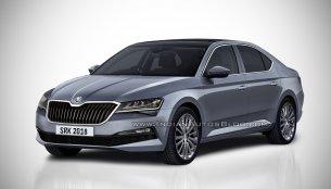 2018 Skoda Superb (facelift) - Rendering