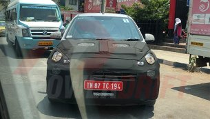 Hyundai AH2 (Hyundai Santro) spotted testing in Pune