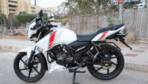 TVS Apache RTR 160 White Race Edition - In 10 Images