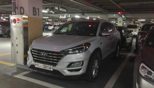 2019 Hyundai Tucson (facelift) spotted in a parking lot