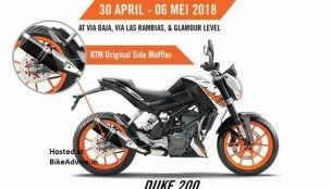 2018 KTM 200 Duke showcased with side-mounted exhaust - Report