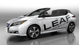 Nissan Leaf Open Car unveiled to celebrate 1,00,000 Nissan Leaf sales in Japan