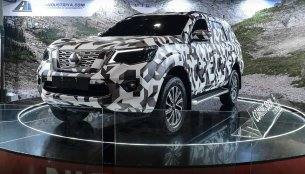 Camouflaged Nissan Terra showcased at the 2018 Trans Sport Show