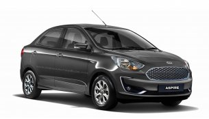 2018 Ford Aspire (facelift) front & rear - IAB Rendering