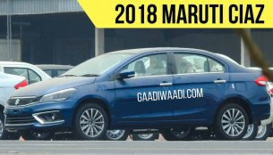 2018 Maruti Ciaz (facelift) spied completely undisguised [Update]