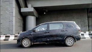 2018 Maruti Ertiga petrol variant spotted on test
