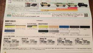 New Suzuki Jimny & Suzuki Jimny Sierra price leaked