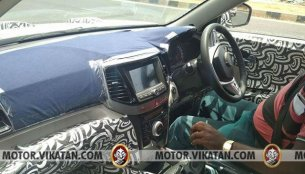 Mahindra S201's interior spied in detail
