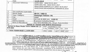 Limited-edition Tata Tigor Buzz specifications leaked