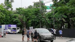 2018 Suzuki Ertiga (2018 Maruti Ertiga) spotted in Thailand during promo shoot