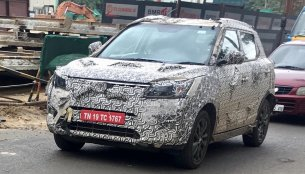 New Mahindra S201 spy shots reveal a bit more of the face
