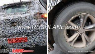 Tata Harrier (H5X) snapped with rear drum brakes