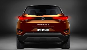 Tata Harrier (Tata H5X) rear-end - IAB Rendering