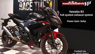 Yamaha R3 with Race Concepts full-exhaust system gains significant power