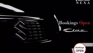 NEXA dealers advertising 'Bookings Open' for the 2018 Maruti Ciaz