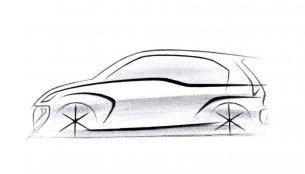Hyundai AH2 (2018 Hyundai Santro) teaser sketch revealed