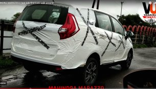 Mahindra Marazzo spied up close, reveals top-end features [Video]