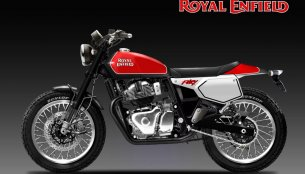 Royal Enfield Fury 650 'Flat Tracker' based on the Interceptor 650 - Rendering