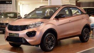 Tata Nexon 'Rose Gold' Edition showcased at Coimbatore dealership