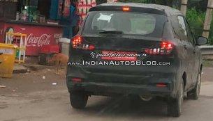 2018 Maruti Ertiga spied testing ahead of its festive season launch