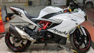 Check out this custom white TVS Apache RR310