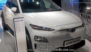 Hyundai Kona EV showcased at 2018 MOVE Summit in New Delhi