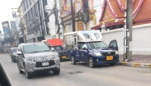 India-bound 2019 Mitsubishi Pajero Sport (facelift) spied in Thailand