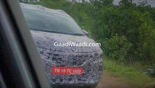 Renault RBC (7-seat compact MPV) spied testing near Chennai