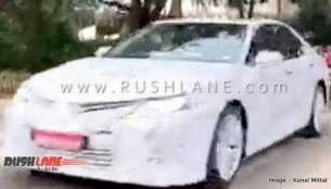 Eighth-gen Toyota Camry spied in India for the first time, to go on sale in 2019