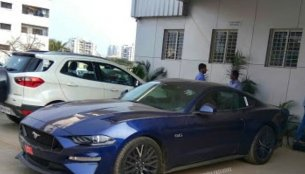 Facelifted Ford Mustang GT snapped in India again